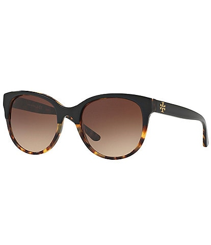 Tory Burch Reva Logo Round Sunglasses