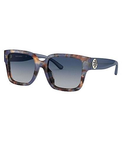 Tory Burch Women's Reva Rectangular Sunglasses