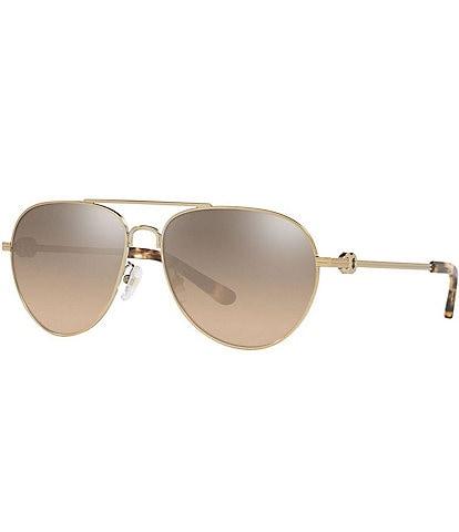Tory Burch Women's Ty6083 58mm Aviator Sunglasses
