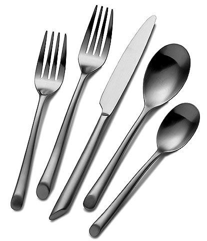 Towle Silversmiths Forged Satin Wave 20-Piece Stainless Steel Flatware Set
