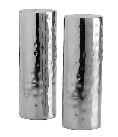 Towle Silversmiths Hammered Salt & Pepper Shaker Set