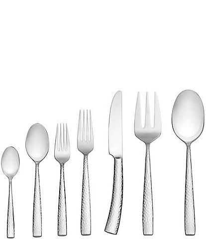 Towle Silversmiths Textured 42-Piece Stainless Steel Flatware Set