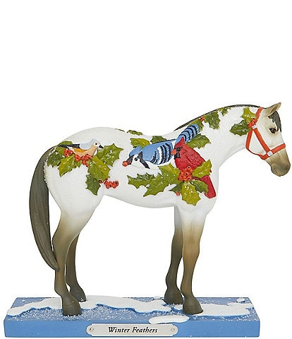 Trail Of Painted Ponies Winter Feathers Figurine