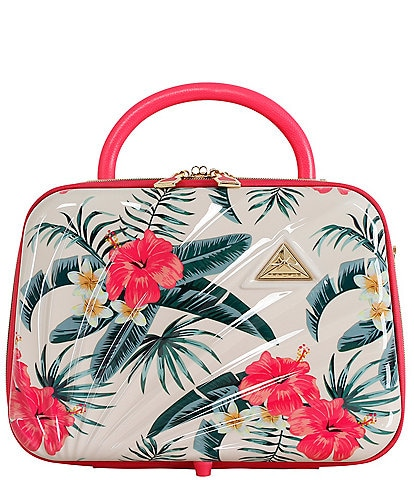 Triforce Sienna Hibiscus Floral 2-Sided Travel Beauty Case