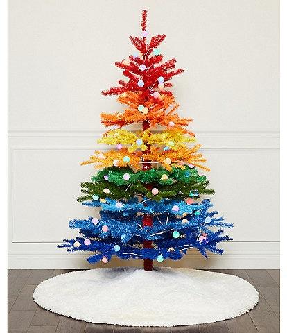 Trimsetter 6 ft. Pre-Lit LED Globe Light Rainbow Christmas Tree