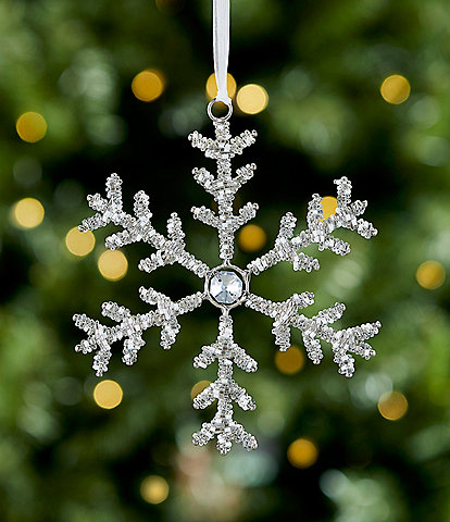 Trimsetter All Is Calm Collection Beaded Snowflake Ornament