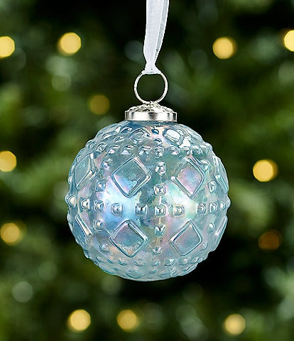 Trimsetter All Is Calm Collection Blue Iridescent Ball Ornament