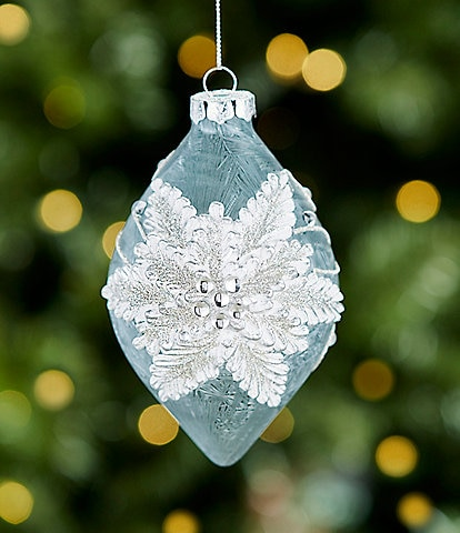 Trimsetter All Is Calm Collection Poinsettia Drop Ornament