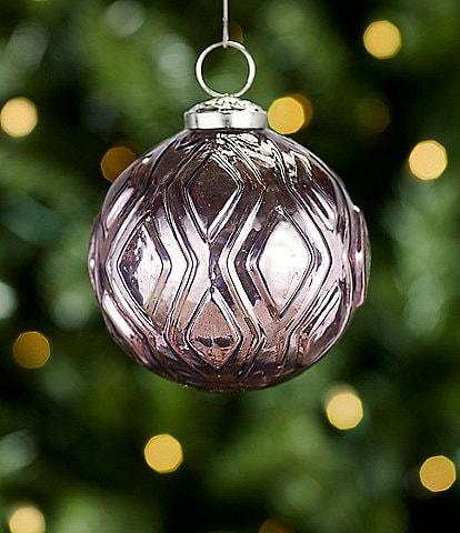 Trimsetter All Is Calm Collection Purple Diamond Pattern Ball Ornament