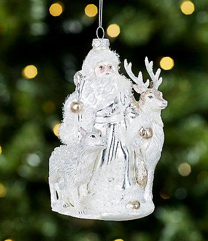 Trimsetter All Is Calm Collection White Santa Ornament