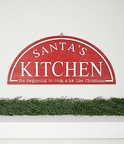 Trimsetter Baking Spirits Bright Collection Santa's Kitchen Decorative Wall Art