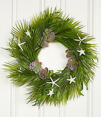 Trimsetter Christmas Island Collection Palm Leaf Wreath