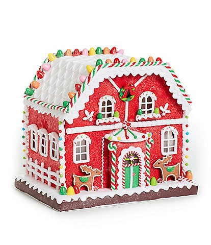 Trimsetter Gingerbread Collection LED Lighted Farmhouse Gingerbread House