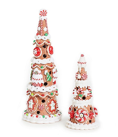 Trimsetter Gingerbread Collection LED Lighted Gingerbread Tree Holiday Decor