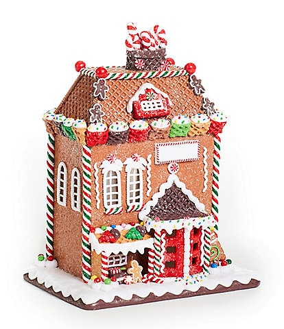 Trimsetter Gingerbread Collection LED Lighted Waffle Cone Gingerbread House