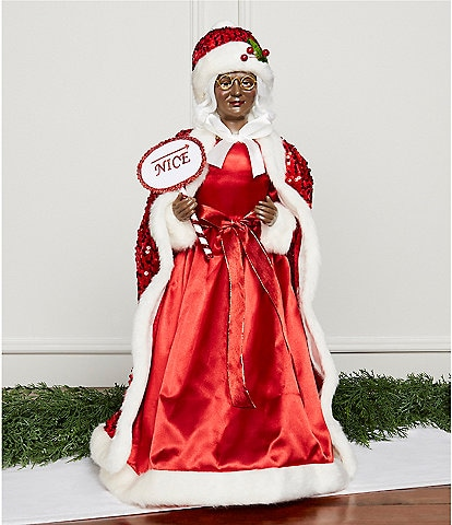 Trimsetter Santa Collection 2-ft. African American Nice Mrs. Claus Figurine