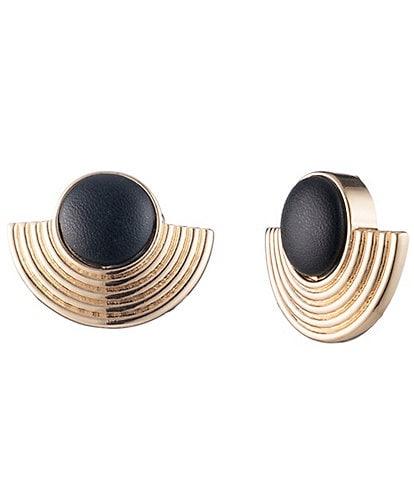 trina TRINA TURK Ribbed Clip Earrings