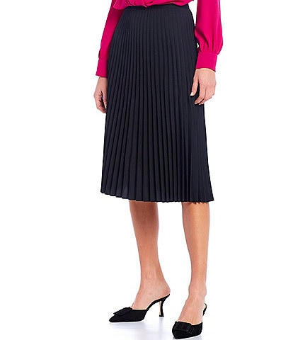 Trina Turk Bancroft Pleated Midi Skirt