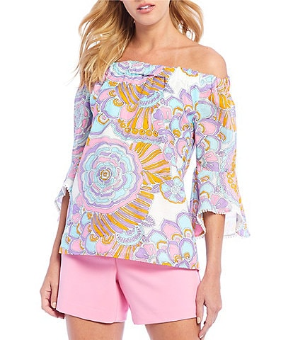 b7db4d1dd9b170 Trina Turk Healdsburg Off-the-Shoulder Top