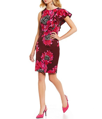Trina Turk Julieta Floral Print One Sleeve Dress
