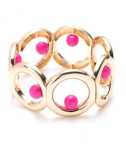 Trina Turk Metal Circle Bracelet