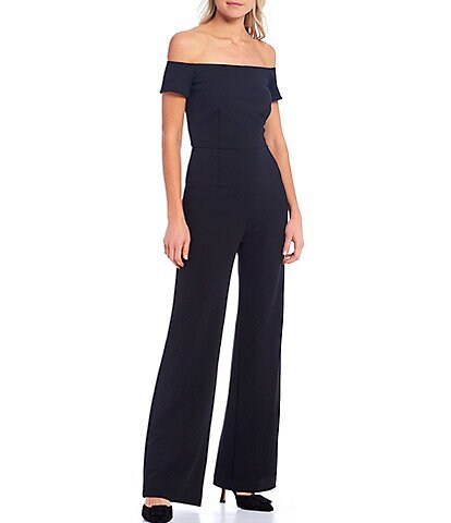 Trina Turk Windsor Off-The-Shoulder Cap Sleeve Jumpsuit