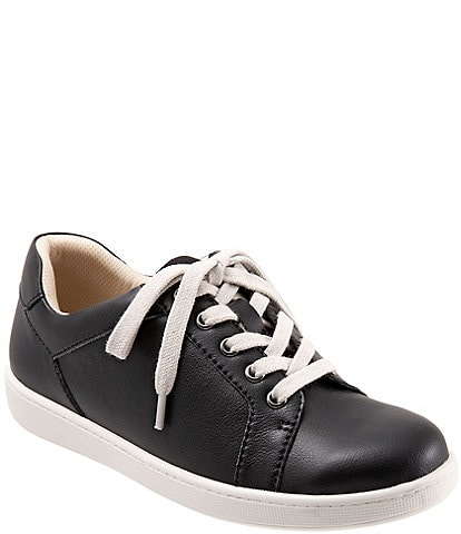 Trotters Adore Leather Lace-Up Sneakers