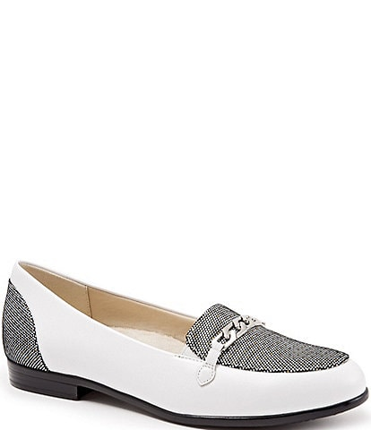 Trotters Anastasia Foil Dots and Chain Detail Loafers