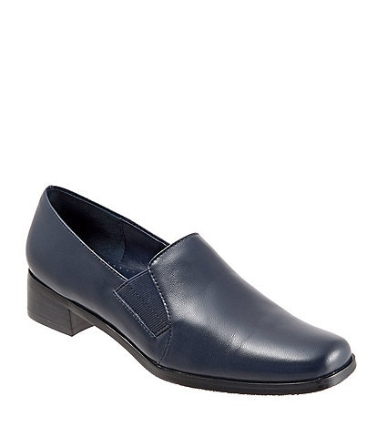 Trotters Ash Slip-On Block Heel Loafers