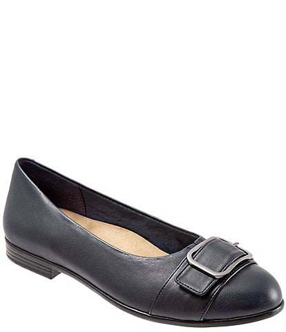 Trotters Aubrey Buckled Slip On Flats