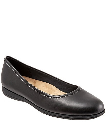 Trotters Darcey Leather Ballet Flats