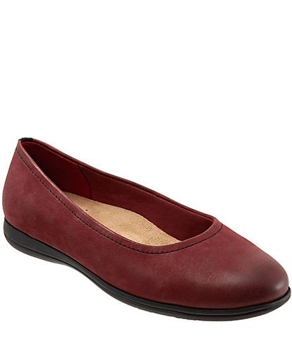 Trotters Darcey Leather Wedge Slip Ons