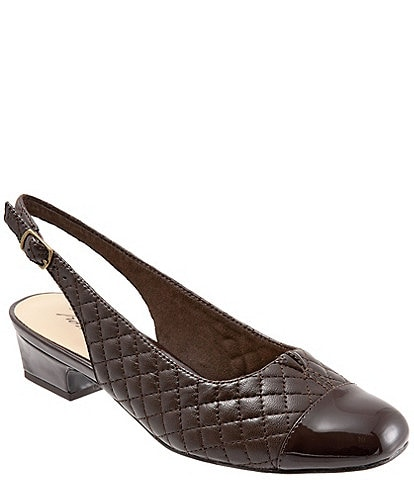 Trotters Dea Quilted Leather Sling Pumps