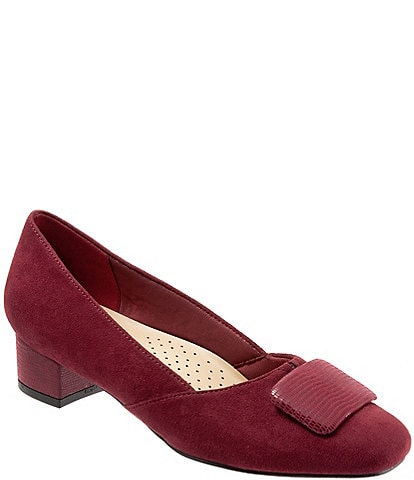 Trotters Delse Ornament Block Heel Pumps
