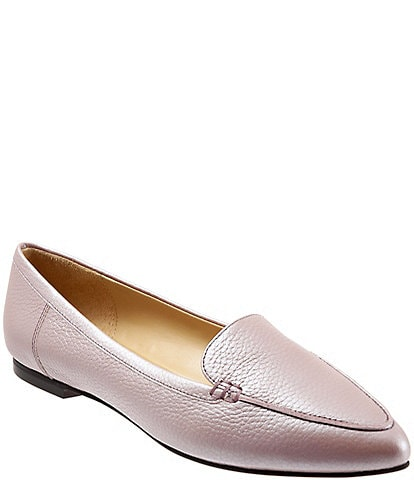 Trotters Ember Pearlized Leather Loafers