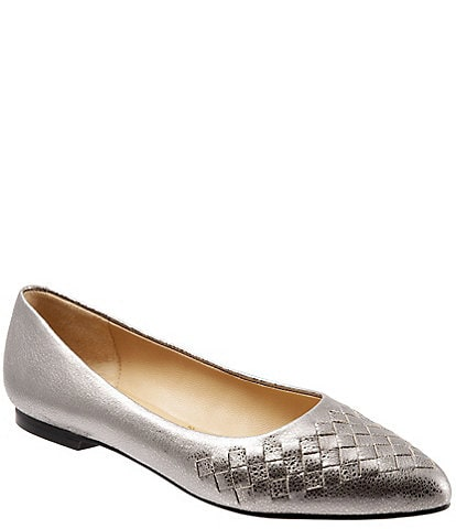 Trotters Estee Woven Leather Flats