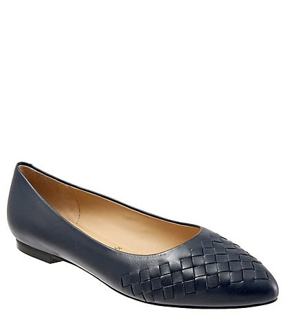 Trotters Estee Woven Leather Slip On Flats