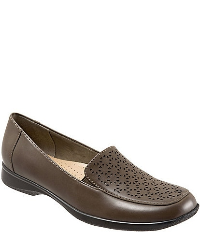 Trotters Jenn Metallic Leather Laser Cut Out Loafers