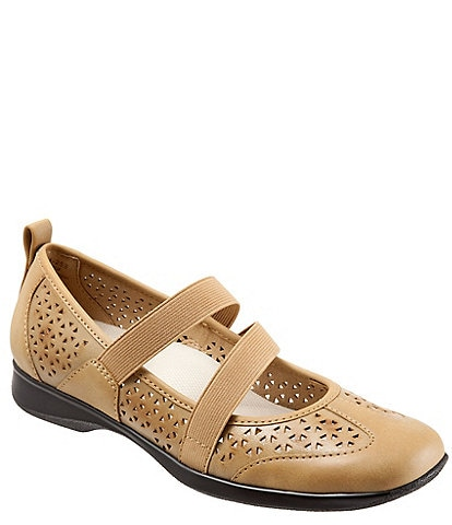 Trotters Josie Perforated Leather Slip-Ons