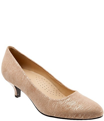 Trotters Kiera Metallic Printed Leather Pumps