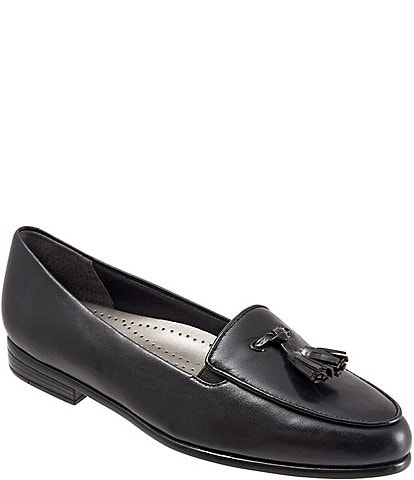 Trotters Leana Tassel Block Heel Loafers