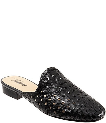 Trotters Leona Woven Leather Mules