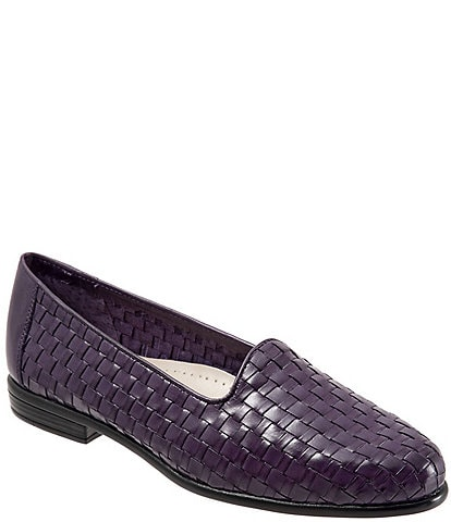 Trotters Liz Woven Detailed Block Heel Loafers