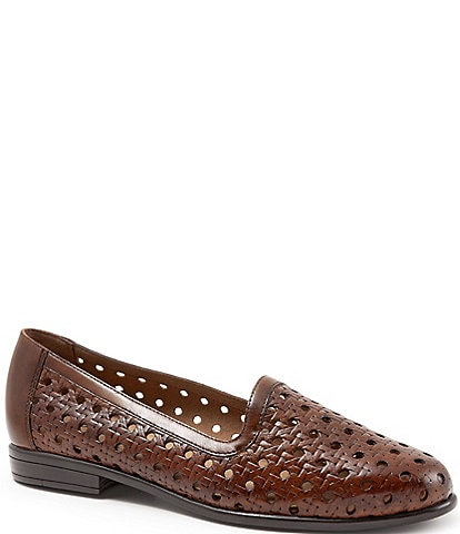 Trotters Liz Woven Leather Loafers