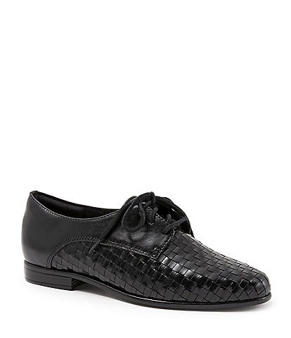 Trotters Lizzie Woven Leather Oxfords