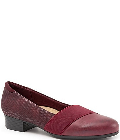 Trotters Melinda Burnished Leather Block Heel Pump