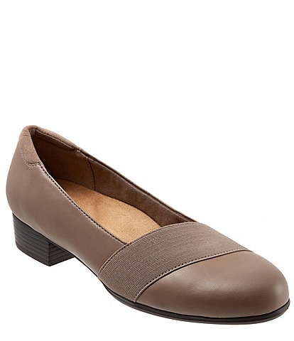 Trotters Melinda Slip On Block Heel Pumps
