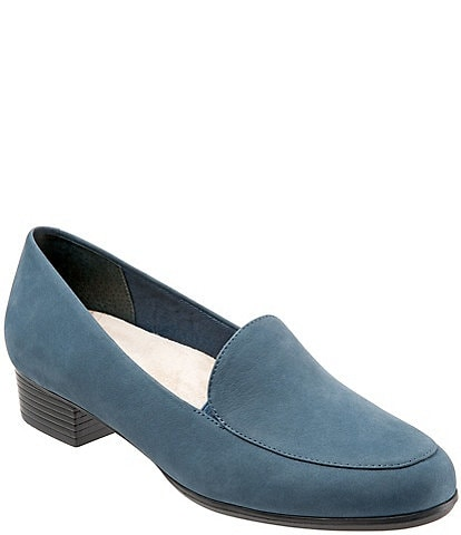 Trotters Monarch Suede Slip-On Block Heel Loafers