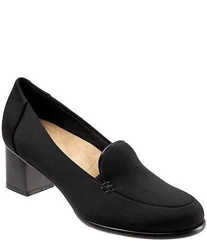 Trotters Quincy Block Heel Loafer Pumps