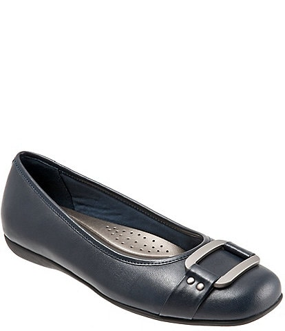 Trotters Sizzle Metal Ornament Buckle Flats